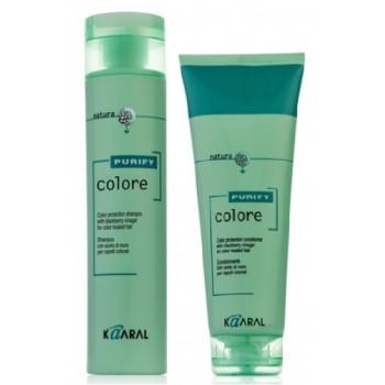 Набор шампунь и кондиционер для окрашенных волос Purify Color Kaaral
