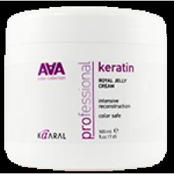 AAA Питательная маска на основе натурального гидролизованного кератина Keratin Royal Jelly cream Kaaral
