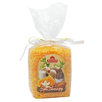 """Косметическая ароматизированная соль для ванн Мед и молоко """"Желана"""" Аква Косметикс (Украина)"""