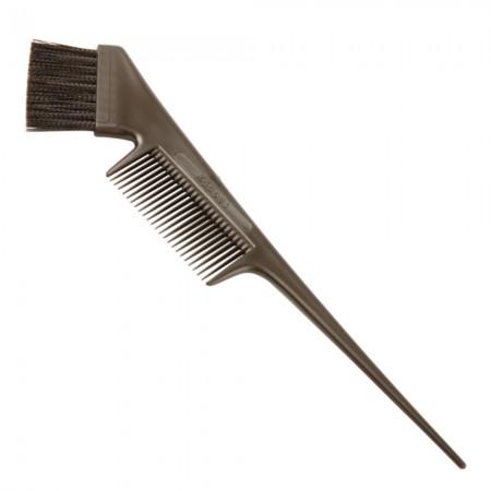 Professional  Кисть с расческой для окрашивания волос (черная)
