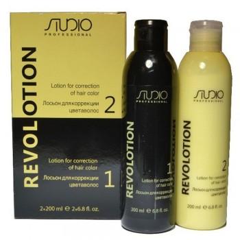 Studio Professional Лосьон для коррекции цвета волос RevoLotion (200+200) Kapous