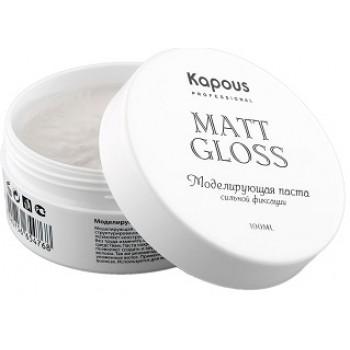 """Professional Styling Моделирующая паста для волос сильной фиксации """"Matt Gloss""""   Kapous"""