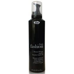 Мусс для укладки волос нормальной фиксации с кератином и маслом аргана Fashion  Regular Mousse Design Lisap