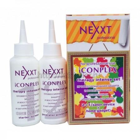 Профессиональная защита и восстановление окрашенных и натуральных волос - salon protect device (1 и 2 уровень в коробке) Iconplex Therapy Intense Set (1-2 Level)