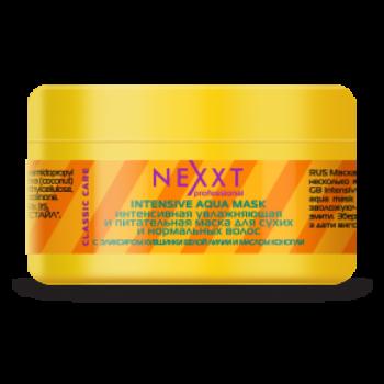 Интенсивная увлажняющая и питательная маска для сухих и нормальных волос Intensive Aqua Mask NEXXT