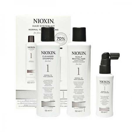 Cистема по уходу для нормальных и тонких, слегка редеющих натуральных волос Nioxin System 1