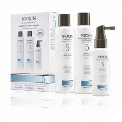 Система по уходу для нормальных и грубых, слегка редеющих натуральных и химически обработанных волос System 5 Nioxin