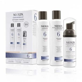 Система по уходу для заметно истонченных/редеющих средних и грубых, натуральных и химически обработанных волос System 6 Nioxin