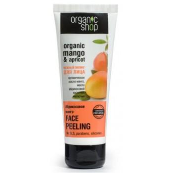 Пилинг для лица Абрикосовое манго Organic Shop