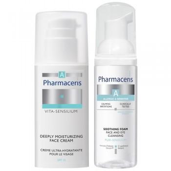 Набор Pharmaceris A: крем глубоко увлажняющий Vita-Sensilium и пенка нежная моющая Puri-Sensilium Dr Irena Eris