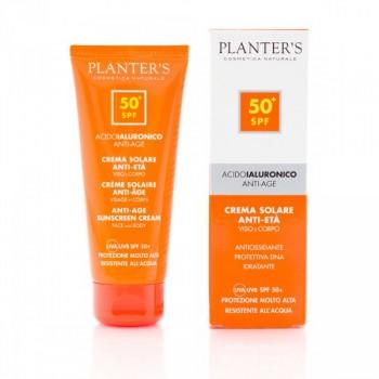"""""""гиалуроновая кислота"""" Cолнцезащитный антивозрастной крем для лица и тела SPF 50+ Planters"""
