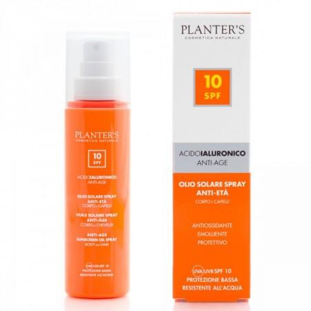 """""""гиалуроновая кислота"""" Cолнцезащитное антивозрастное масло для волос и тела SPF10"""