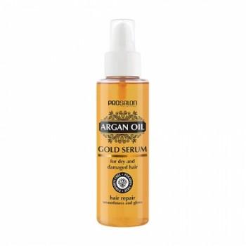 Сыворотка для волос с аргановым маслом Gold serum for dry and damaged hair Argan oil ProSalon Professional
