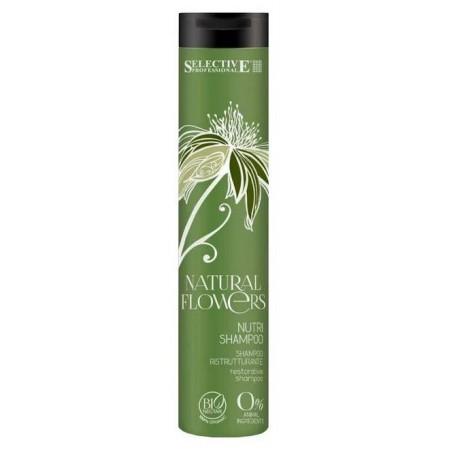 Питательный шампунь для восстановления волос Natural Flowers Nutri