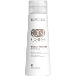 Серебряный шампунь для обесцвеченных или седых волос Silver Power shampoo Selective