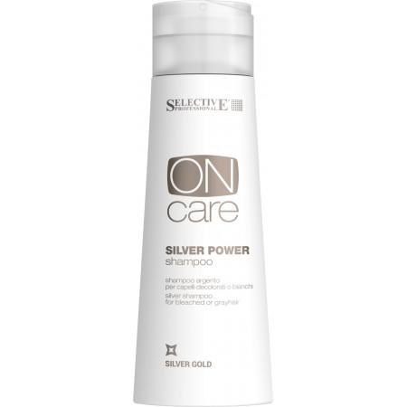 Серебряный шампунь для обесцвеченных или седых волос Silver Power shampoo