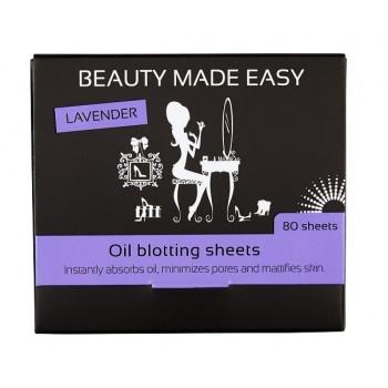 Матирующие бумажные салфетки BEAUTY MADE EASY by Veronique с экстрактом лаванды (80 шт.) Veronique