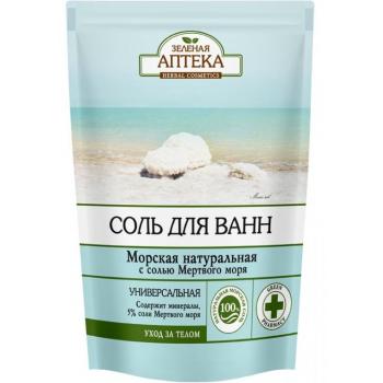 """Соль для ванн """"Морская натуральная"""" Зеленая Аптека"""