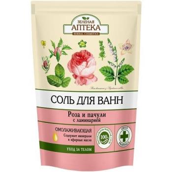 """Соль для ванн """"Роза и пачули"""" Зеленая Аптека"""