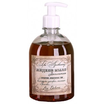Жидкое мыло деликатное с экстрактами лекарственных трав календулы, шалфея, эхинацеи и фиалки Liv Delano