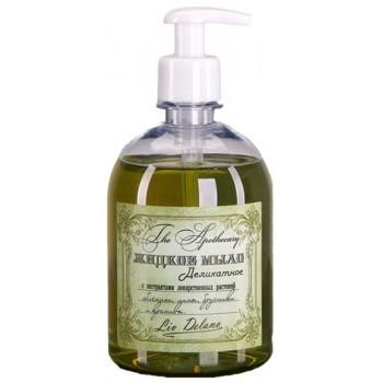 Жидкое мыло деликатное  с экстрактами лекарственных растений облепихи, липы, брусники и крапивы Liv Delano