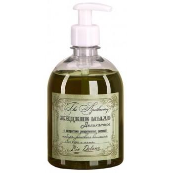 Жидкое мыло деликатное с экстрактами лекарственных растений имбиря, конского каштана, алоэ вера и мяты Liv Delano