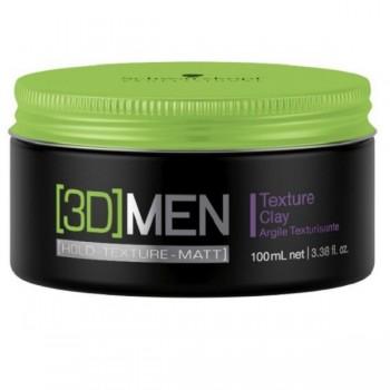 Текстурирующая глина для волос для мужчин Texture Clay 3D Men (Schwarzkopf Professional)