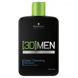 Шампунь для глубокого очищения волос для мужчин Deep Cleansing Shampoo 3D Men (Schwarzkopf Professional)