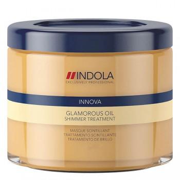 """Смываемая восстанавливающая маска для всех типов волос """"Чарующее сияние"""" Glamorous Oil Indola Professional"""