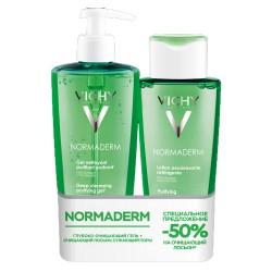 Набор Normaderm (очищающий гель + лосьон со скидкой 50% ) VICHY